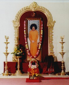 Shrine at Sathya Sai Centre of Strathfield, Sydney